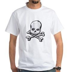 Skull and Cross Bones White T-Shirt