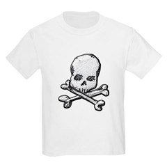 Skull and Cross Bones Youth T-Shirt by Hanes