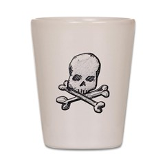 Skull and Cross BonesShot Glass