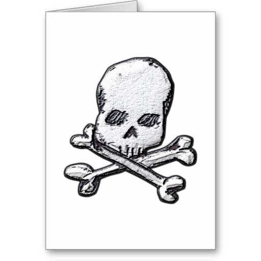 Skulls and Cross Bones Greeting Card