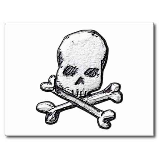 Skulls and Cross Bones Postcard