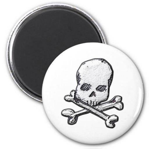 Skulls and Cross Bones Refrigerator Magnets