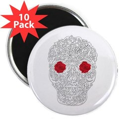 "Day of the Dead Skull 2.25"" Magnet (10 pack)"