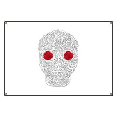 Day of the Dead Skull Banner