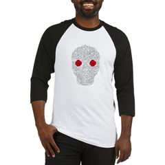 Day of the Dead Skull Baseball Jersey T-Shirt