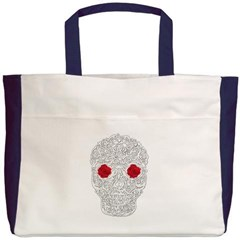 Day of the Dead Skull Beach Tote Bag