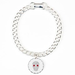 Day of the Dead Skull Bracelet with Round Charm