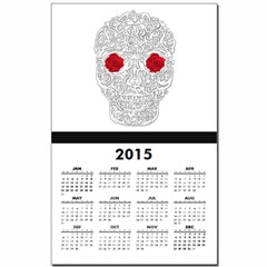 Day of the Dead Skull Calendar Print