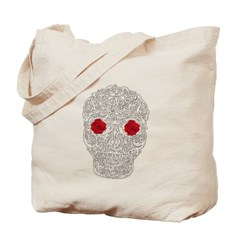 Day of the Dead Skull Canvas Tote Bag