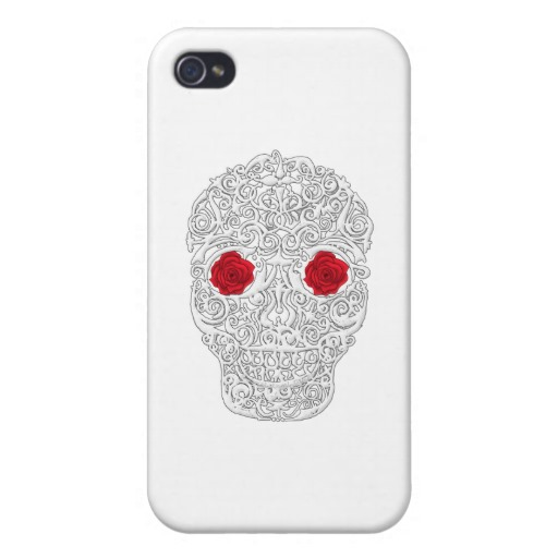 Day of the Dead Skull Case Savvy iPhone 4 Matte Finish Case