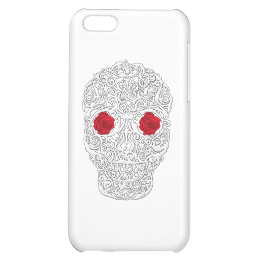 Day of the Dead Skull Case Savvy Matte Finish iPhone 5C Case