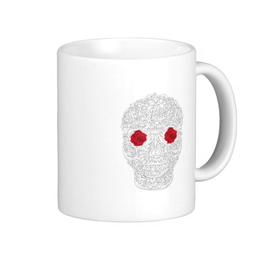Day of the Dead Skull Classic White Mug