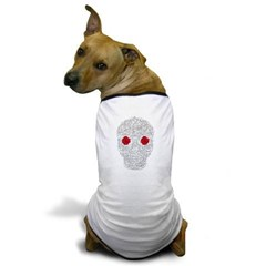 Day of the Dead Skull Dog T-Shirt