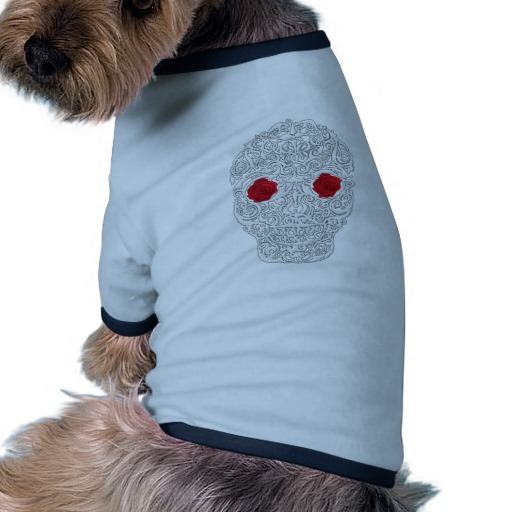 Day of the Dead Skull Doggie Ringer T-Shirt