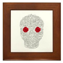 Day of the Dead Skull Framed Tile