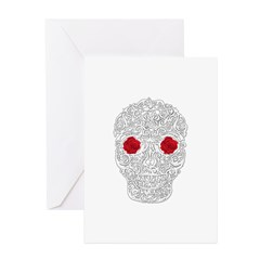 Day of the Dead Skull Greeting Cards (Pk of 10)