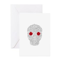Day of the Dead Skull Greeting Cards (Pk of 20)