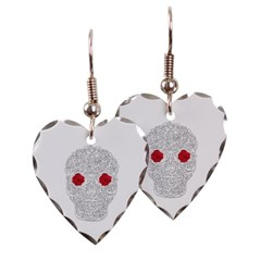 Day of the Dead Skull Heart Earrings