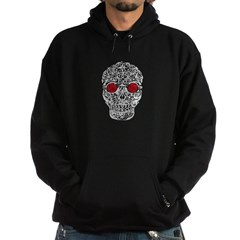 Day of the Dead Skull Hooded Dark Sweatshirt