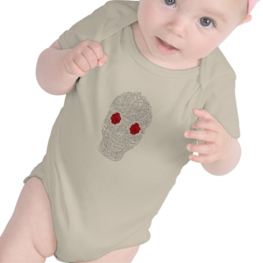 Day of the Dead Skull Infant American Apparel Organic Creeper