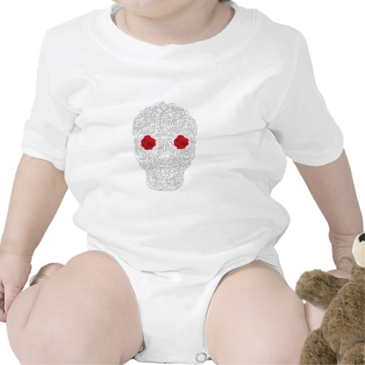 Day of the Dead Skull Infant Creeper