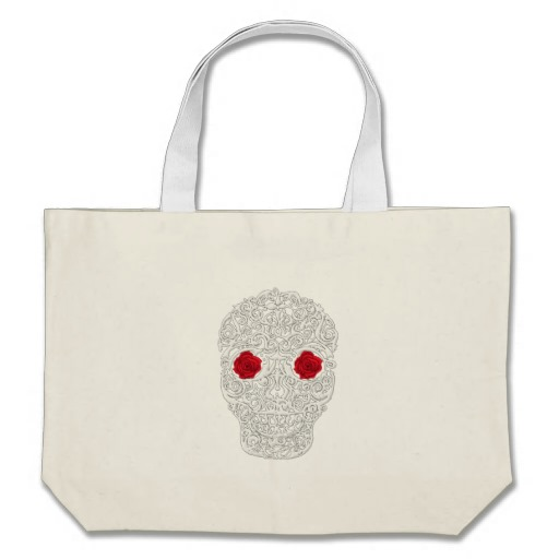 Day of the Dead Skull Jumbo Tote