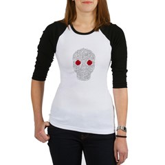 Day of the Dead Skull Junior Raglan T-shirt