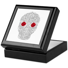 Day of the Dead Skull Keepsake Box