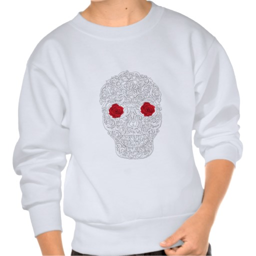 Day of the Dead Skull Kids' Hanes ComfortBlend® Sweatshirt
