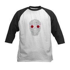 Day of the Dead Skull Kids Baseball Jersey T-Shirt