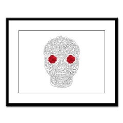 Day of the Dead Skull Large Framed Print
