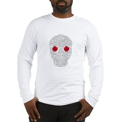 Day of the Dead Skull Long Sleeve T-Shirt