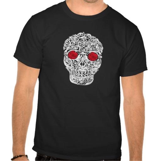 Day of the Dead Skull Men's Basic Dark T-Shirt