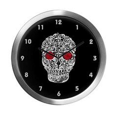 Day of the Dead Skull Modern Wall Clock