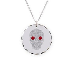 Day of the Dead Skull Necklace with Round Pendant