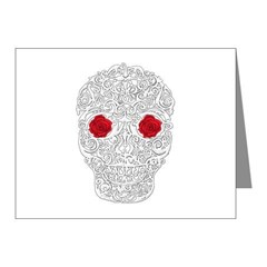 Day of the Dead Skull Note Cards (Pk of 10)