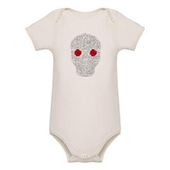 Day of the Dead Skull Organic Baby Bodysuit