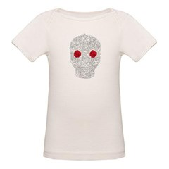 Day of the Dead Skull Organic Baby Tee