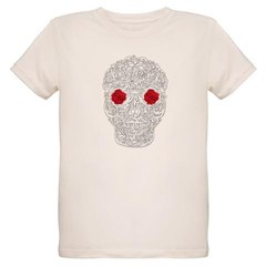 Day of the Dead Skull Organic Kids T-Shirt