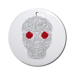 Day of the Dead Skull Ornament (Round)