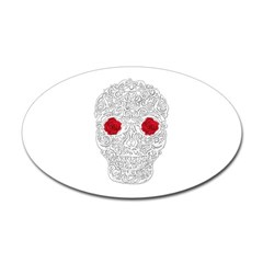 Day of the Dead Skull Oval Decal