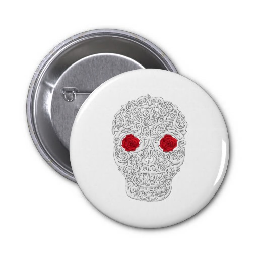 Day of the Dead Skull Pins