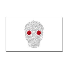 Day of the Dead Skull Rectangle Decal