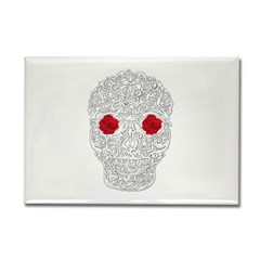 Day of the Dead Skull Rectangle Magnet