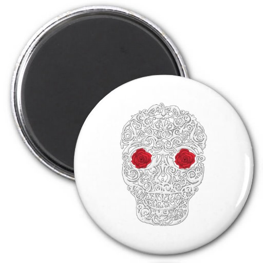 Day of the Dead Skull Refrigerator Magnets