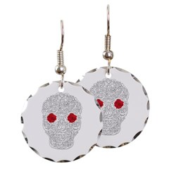 Day of the Dead Skull Round Earrings