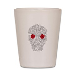 Day of the Dead Skull Shot Glass