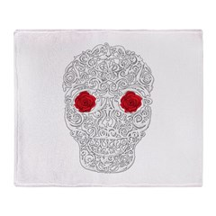 Day of the Dead Skull Throw Blanket