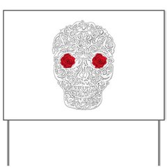 Day of the Dead Skull Yard Sign