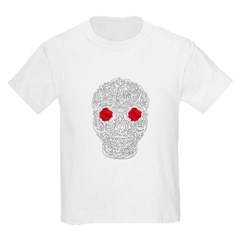 Day of the Dead Skull Youth T-Shirt by Hanes